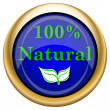 100 percent natural icon — Foto de stock #33337875
