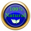 100 percent natural icon — Foto Stock #33337875