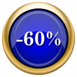 60 percent discount icon — Stock fotografie #33337943
