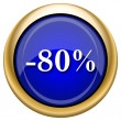 80 percent discount icon — Foto de stock #33337947