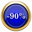 90 percent discount icon — Foto de stock #33337951