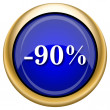 图库照片: 90 percent discount icon