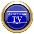 As seen on TV icon — Foto de stock #33337971