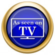 As seen on TV icon — Stock Photo