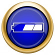 2 thirds charged battery icon — Stockfoto #33338015