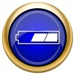 2 thirds charged battery icon — Foto Stock #33338015