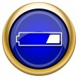 1 third charged battery icon — Foto de stock #33338019