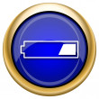 图库照片: 1 third charged battery icon