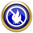 Fire forbidden icon — Stock Photo