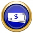 Money icon — Stock Photo