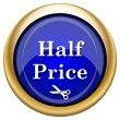Half price icon — Stock Photo