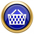 Shopping basket icon — Stock Photo