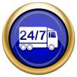 Stock Photo: 24 7 delivery truck icon
