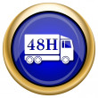 48H delivery truck icon — Foto de stock #33338623