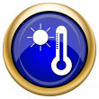 Sun and thermometer icon — Foto Stock #33338747