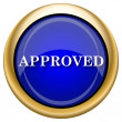 Approved icon — Stock Photo #33338923