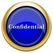 Confidential icon — Stock Photo
