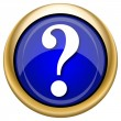 Question mark icon — Foto de Stock