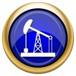图库照片: Oil pump icon