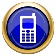Mobile phone icon — Stock Photo