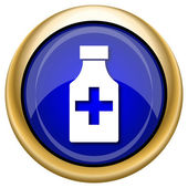 Pills bottle icon — Stock Photo