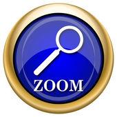 Zoom con el icono de lupa — Foto de Stock