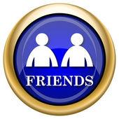 Icona gli amici — Foto Stock