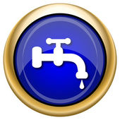 Water tap icon — Stock Photo