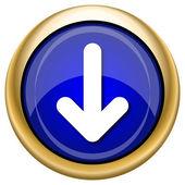 Down arrow icon — Stockfoto