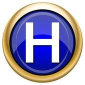 Icono de hospital — Foto de Stock