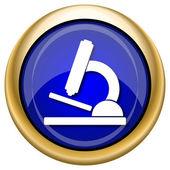 Microscope icon — Стоковое фото