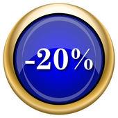 20 percent discount icon — Stockfoto