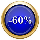60 percent discount icon — Stockfoto