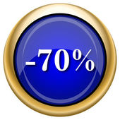 70 percent discount icon — Stock Photo