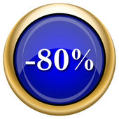 80 percent discount icon — Stock Photo