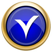 V checked icon — Stockfoto