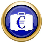 Euro bag icon — Foto de Stock