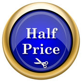 Half price icon — Stockfoto
