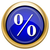 Percent icon — Foto Stock