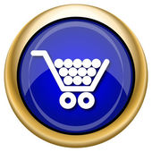 Shopping cart icon — 图库照片