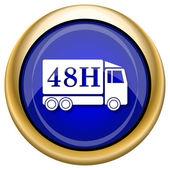 Icono de camión de entrega 48h — Foto de Stock