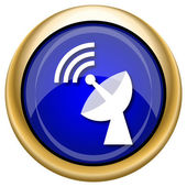 Wireless antenna icon — Stok fotoğraf