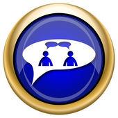 Sohbet simgesi - kabarcık erkeklerde — Stok fotoğraf