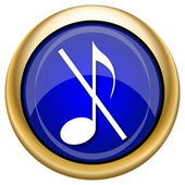 Musical note - no sound icon — Foto Stock