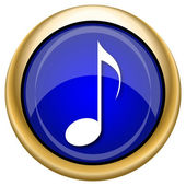 Musical note icon — Stockfoto