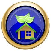 Icono casa eco — Foto de Stock