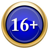 16 plus icon — Stockfoto