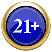 21 plus icon — Stockfoto