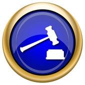 ícone do martelo de juiz — Foto Stock