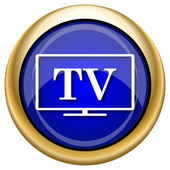 TV icon — Stockfoto